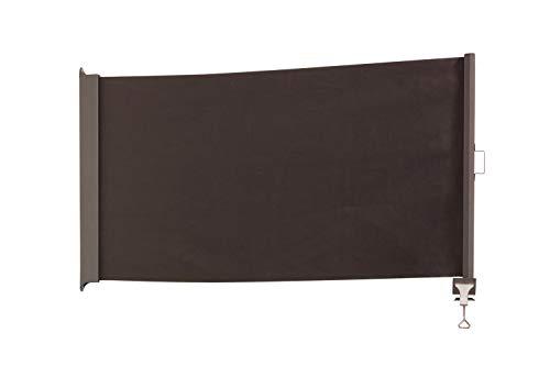 empasa Senkrechtmarkise Balkon Markise \'UP\' Balkonmarkise UV-Schutz Sichtschutz Sonnenschutz Creme Anthrazit 80 x 300 cm