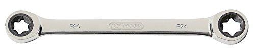 KS Tools 503.4353 GEARplus TX-E-Doppel-Ratschenringschlüssel,E10xE12