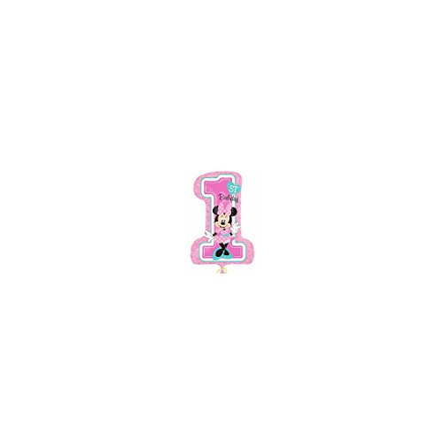 Amscan International 8.725.410,5 cm Minnie Mouse 1. Geburtstag Super Form Folienballon (Minnie Mouse Dress Up)