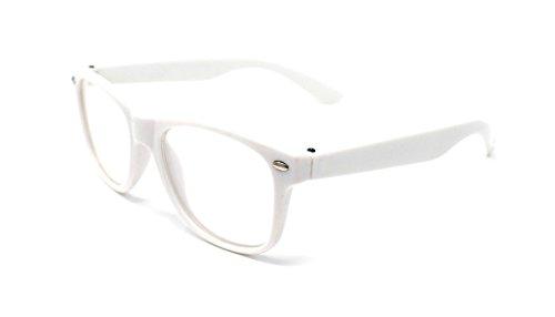 Ultra® White Classic Style Multi Farbe Lichtscheibe klassische Rahmen ideal für Kostüme Partys Gläser Geschenk Nerds und Hipster (weiss)