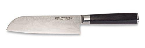Echtwerk EW-DM-0360 Damastmesser Küchenmesser Santokumesser Klinge, 18 cm