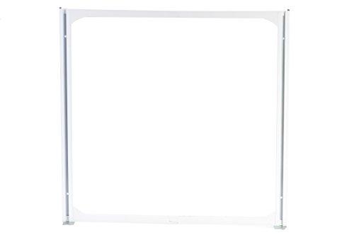 hünersdorff Rahmen für MultiStore Lagersystem, 25 x 601 x 600 mm, 1 Stück, weiß, 461101