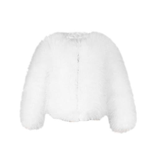 Yuandian donna autunno e inverno casuale colore solido corto artificiale faux pellicce ecologiche giubbotto caldo morbido elegante pelliccia corta giacca cappotto bianco s