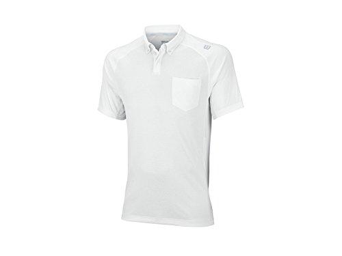 WILSON Late Summer Novelty Knit Maglietta Polo Uomo, Bianco, L