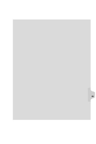 kleer-fax Buchstabe Größe Einzelne Zahl Index Teiler, Side Tab, 1/25. Schnitt, 25Blatt pro Pack, weiß, Nr. 45(82245) - Tabs Rechtliche