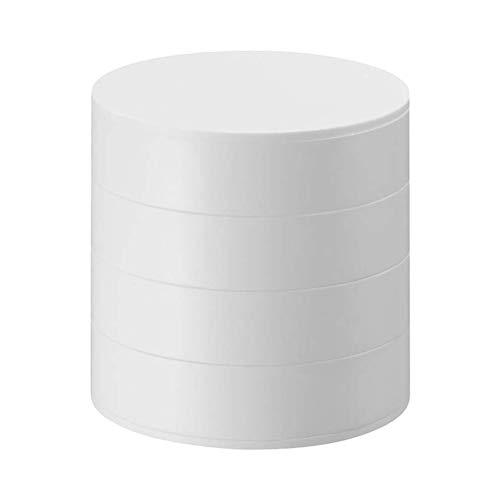 Ysoom Joyero Organizador Mujer Niña Caja Joyero Organizador 4 Niveles Rotación de 360 Grados Almacenamiento para Anillos Pendientes Collar Cumpleaños Regalo (2)