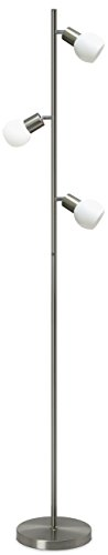 Trango Deign 3-flamme LED dimmable Lampadaire de lampadaire Lampe de lecture TG1520 - 12 watts - 3 x 400 lumens - Tête de tache pivotant et rotatif
