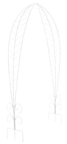 Arche à Rosiers en fer coloris blanc - 264 x 162.5 x 36 cm - PEGANE -