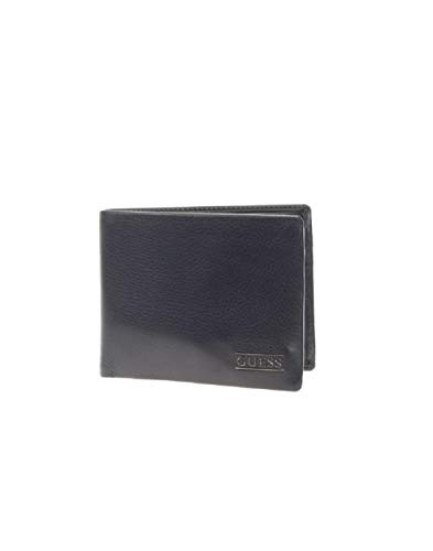 Guess Herren New Boston Billfold W/Coin Pkt Geldbörse, Schwarz (Black), 2.5x9.6x12.2 Centimeters