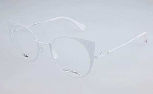 Fendi Damen FF 0192 2C9-48-21-140 Brillengestelle, Weiß, 48