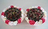elegantstunning Kunstblumen Küssen Ball Hohe Qualität Rose Pomander Blume Party Dekoration 40cm rot