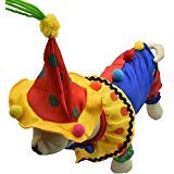 qiaoniuniu Pet Halloween Clown Kostüme für Hunde Puppy Weihnachten Party Foto Kleidung, Small