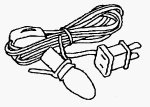 Lemax Village Collection One Light Cord - UL #64140 by Lemax