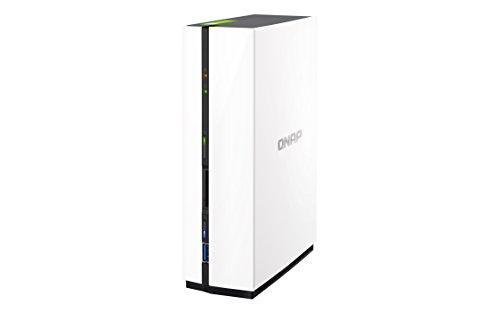 QNAP TS-128 2TB (1 x 2TB WD RED) 1 Bay Desktop NAS Einheit