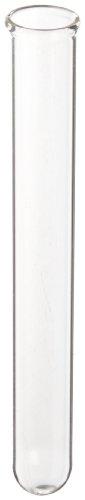 American Educational cristal de borosilicato tubo de ensayo, base redonda 13mm OD x 100mm Length (Pack de 72)