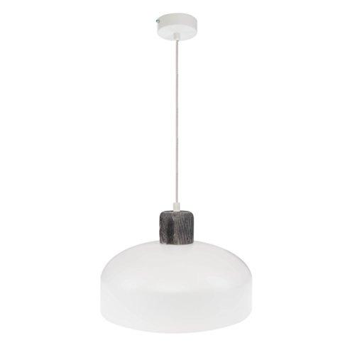 elbmöbel Moderne Hängeleuchte Pendelleuchte Holz natur weiß oder grau E27 Fassung LED 30cm...