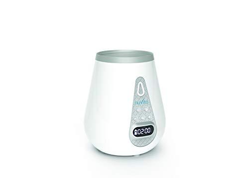Nuvita 1170 Digitaler 4 in 1 Flaschenwärmer Babykostwärmer mit Sterilisator | Fläschchenwärmer für Babynahrung | Schonendes Auftauen schnelle Erwärmung mit Timer | Ideal für Muttermilch | EU Marke