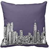 Nyc Drawing In Lilac Purple Throw Ra9195796553e4346899388f168e580a6 I5fqz 8byvr Pillow Case 18\