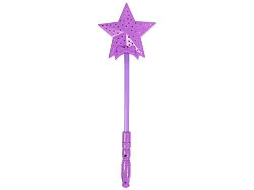 Alsino Leuchtstab Led Zauberstäbe Bunt ca. 35 cm lang mit 3 Blinkeffekten Mädchen Spielzeug für Kinder, Farbe:LST-26 Leuchtstab Stern lila
