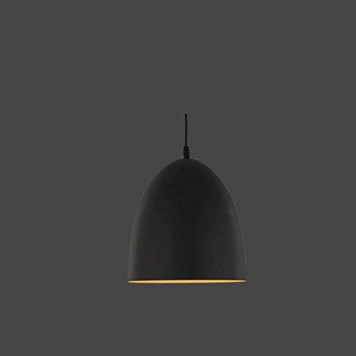 lustre GAODUZI Simple Industriel Style Table À Manger Restaurant Café Escalier Épaisseur en Métal Matériel E27 (Couleur : Noir, Taille : B 25 * 27cm)