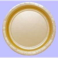 Pack of 8 Gold 23cm Paper Plates