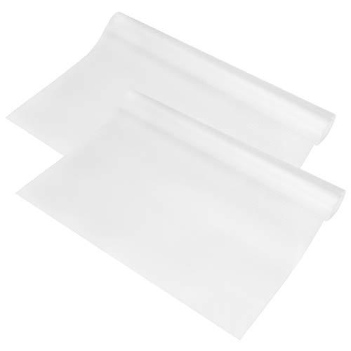 Hemoton Hemoton 2 Rollen 450g/m2 Regal Schublade Liner EVA rutschfeste Matte Regal Liner Wasserdicht Kühlschrank Pad 150x45 cm (transparent weiß) Eva Liner