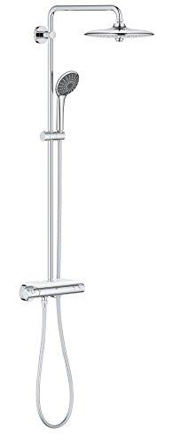 GROHE Vitalio joy System 260 | Brause-und Duschsysteme - Duschsystem | mit Thermostatbatterie für die Wandmontage, Chrom | 26403001