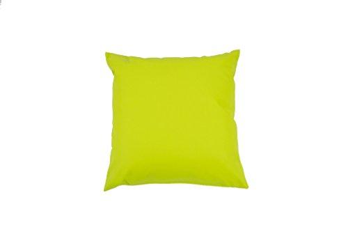 Eridaneo Cuscino Bombato ECOPELLE, Colore: Verde, Misura: cm 42x42