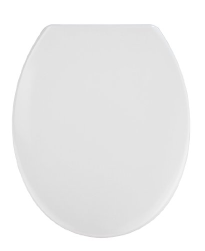 WENKO 19539100 WC-Sitz Vigone Weiß – rostfreie Edelstahlbefestigung, Kunststoff – Duroplast, 38 x 45 cm, Weiß