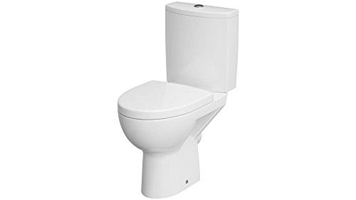 Cornat Stand-WC Set MONTEGO spülrandlos / Toilette / Tiefspüler / Toilette mit WC-Sitz / Sanitärkeramik / WC Komplettanlage / SKTKMONBD00