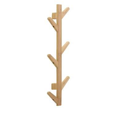 GXLO 6/8/10 Haken Wand Bambus Baum Zweig Garderobenhaken Rack Schwere Kleidung Huthalter,Woodcolor,123x22x7cm (Bambus-zweige)