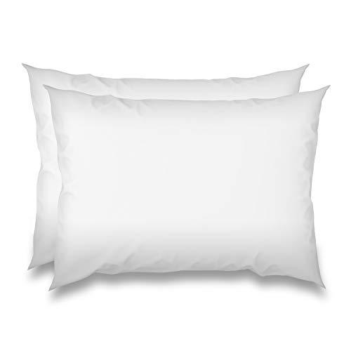WOMETO 2 Stück Federkissen Kissenfüllungen 30x50 weiß - Baumwolle OekoTex weich