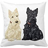 'Wheaten Black Terriers écossais Pillow Case 18 * 18 \
