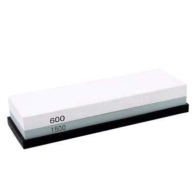 Kitchen Sharpener Sharpening Stone Whetstone Set + Silica Gel Underlay Safe V8A9 Green&White 600 1500 One Size
