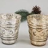 Vasos decorado oro cm 10