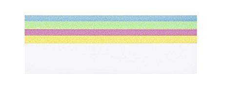 Legamaster 7-255099 Moderationsstreifen für Überschriften 460 x 100 mm, 100 Stück, sortiert (FSC zertifiziert)