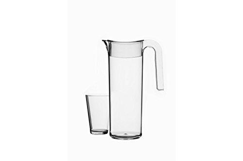 Mepal Wasserkaraffe Flow 1.5 L, Kunststoff, Klar 179 x 10.8 x 29 cm