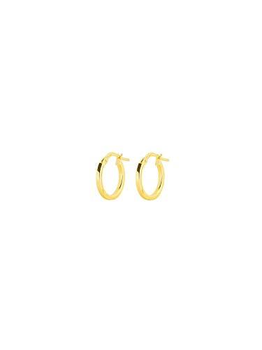 Stroili Orecchini a cerchio in oro giallo Larghezza 1,5 cm + diametro 10 cm Referenza 1401083