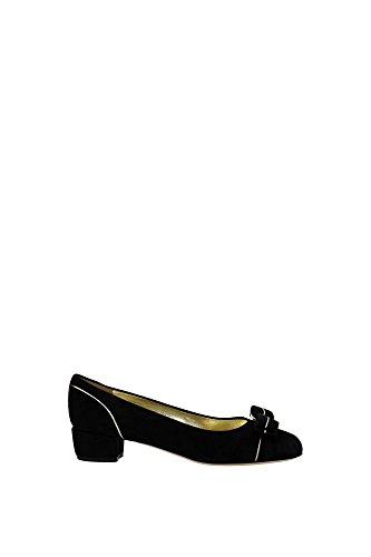 ballerine-salvatore-ferragamo-donna-camoscio-nero-e-platino-varapipin0616055-nero-38eu
