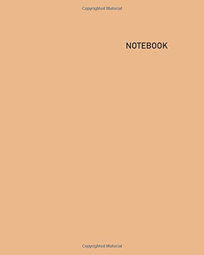 Notebook: Unlined/Unruled/Plain Journal Notebook (8 x 10) - 100 Pages (50 Sheets) - Pastel: Sandstone Cover - White Paper