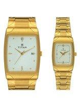 Titan Bandhan Analog Silver Dial Couple Watch - NE19372937YM01