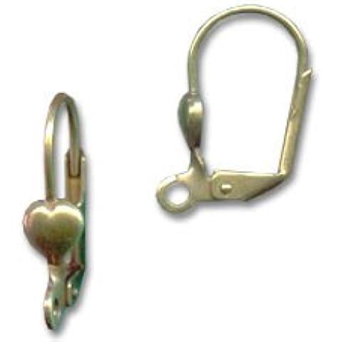 Monachelle cuore bronzo x2