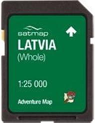 Satmap mapcard: Lettland Adventure Karte 25K