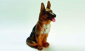Großer Schäferhund 38 cm 88023 Kunststoff-Figur mit Bewegungsmelder -
