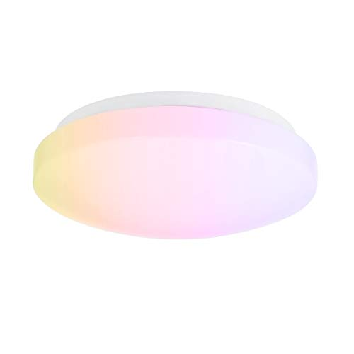 LOHAS Ersetzt 100W Licht Deckenlampe LED, 15W IP44 Wasserfest WIFI Deckenleuchte, White &RGBW Color Ambiance Deckenleuchte, Kompatibel mit Amazon Alexa, Google Home, Deckenleuchte für Wohnzimmer, 1er