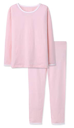 ABClothing Rosa Pyjamas für Mädchen weiche Baumwolle PJ Set Konfetti Pop Lil Schwestern schlafen Anzüge Nachthemd -