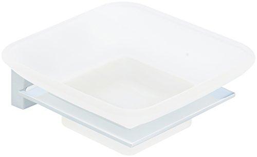 Glas Poliert Seifenschale (AmazonBasics - Seifenschale, Euro, Chrom poliert)