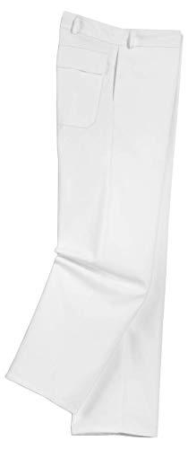 Uvex Whitewear Herren-Bundhose 89321 - Weiße Arbeitshose mit Vielen Taschen - Perfekt für Lackierer, Maler und Tapezierer - Arbeitsbundhose aus 65% Baumwolle für Männer - Weiß - Größe 58 -