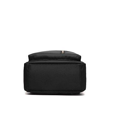 Damenmode Reißverschluss Nylon Rucksack Black