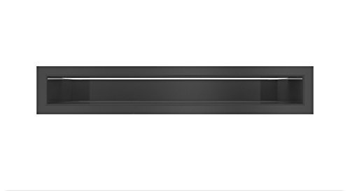 Rejilla de aire negras Kratki 6 cm x 40 cm